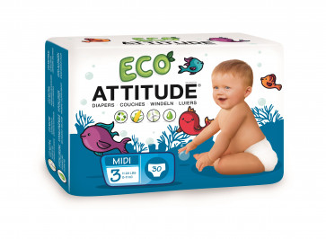 ATTITUDE | Little Ones Eco-luier | Maat 3 | 30 stuks