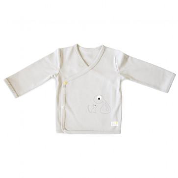 Olli+Jeujeu | T-shirt Kimono 'Basic'| Lichtgrijs | Lange Mouw