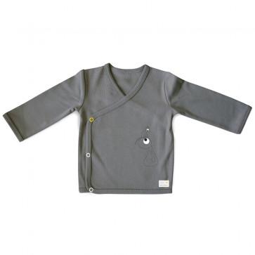 Olli+Jeujeu | T-shirt Kimono 'Play'| Donkergrijs | Lange Mouw