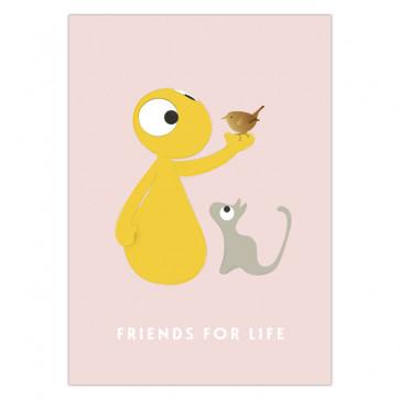 Olli+Jeujeu | Ansichtkaart | Friends for Life