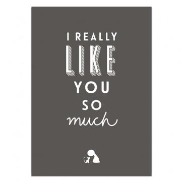 Olli+Jeujeu | Ansichtkaart | I really like you