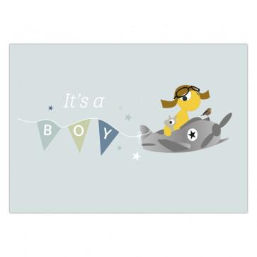 Olli+Jeujeu | Ansichtkaart | It's a boy