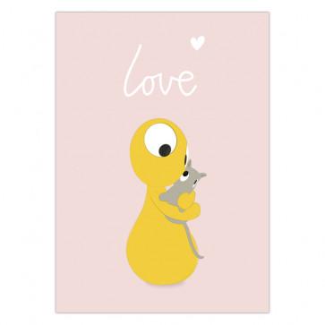 Olli+Jeujeu   Ansichtkaart   Love