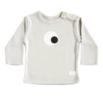 Olli+Jeujeu | T-shirt 'Eye'| Lichtgrijs | Lange Mouw