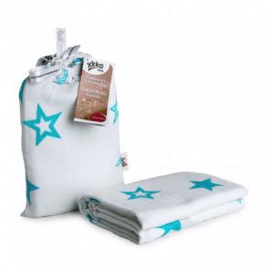 XKKO | Hydrofieldoek | Ster Turquoise | 120x120