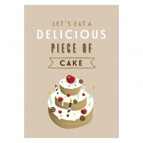 Olli+Jeujeu | Ansichtkaart | Piece of cake