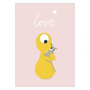 Olli+Jeujeu | Ansichtkaart | Love