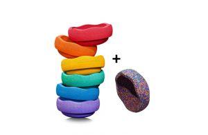 Stapelstein | Rainbow  Basic + Confetti
